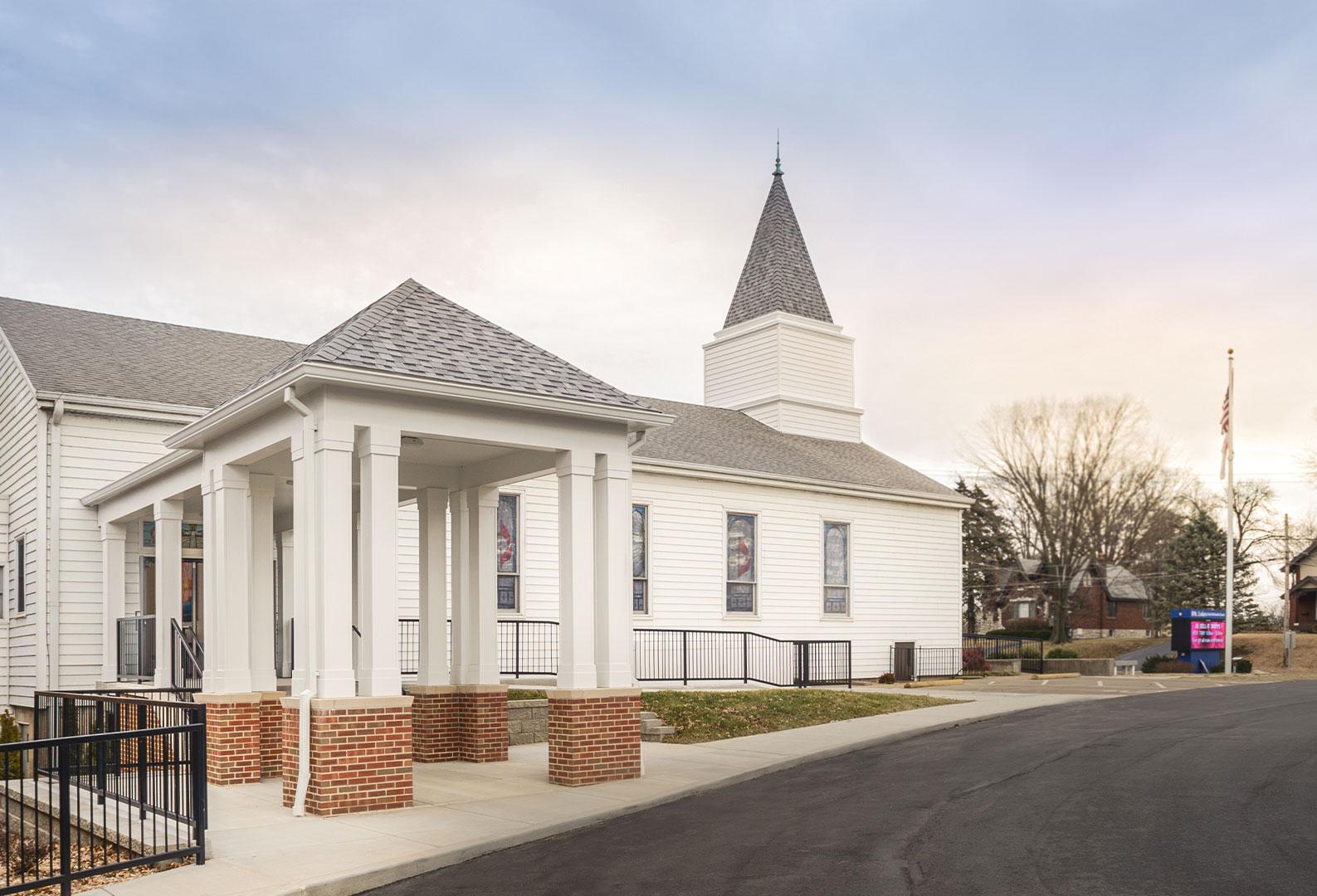 Side exterior of St. Luke